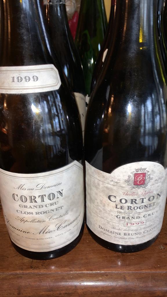 Corton Grand Cru Clos Rognet & Le Rognet 1999 - Domaines Méo-Camuzet & Bruno Clavelier