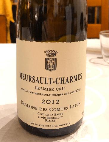 Meursault-Charmes 1er Cru 2012 - Domaine des Comtes Lafon