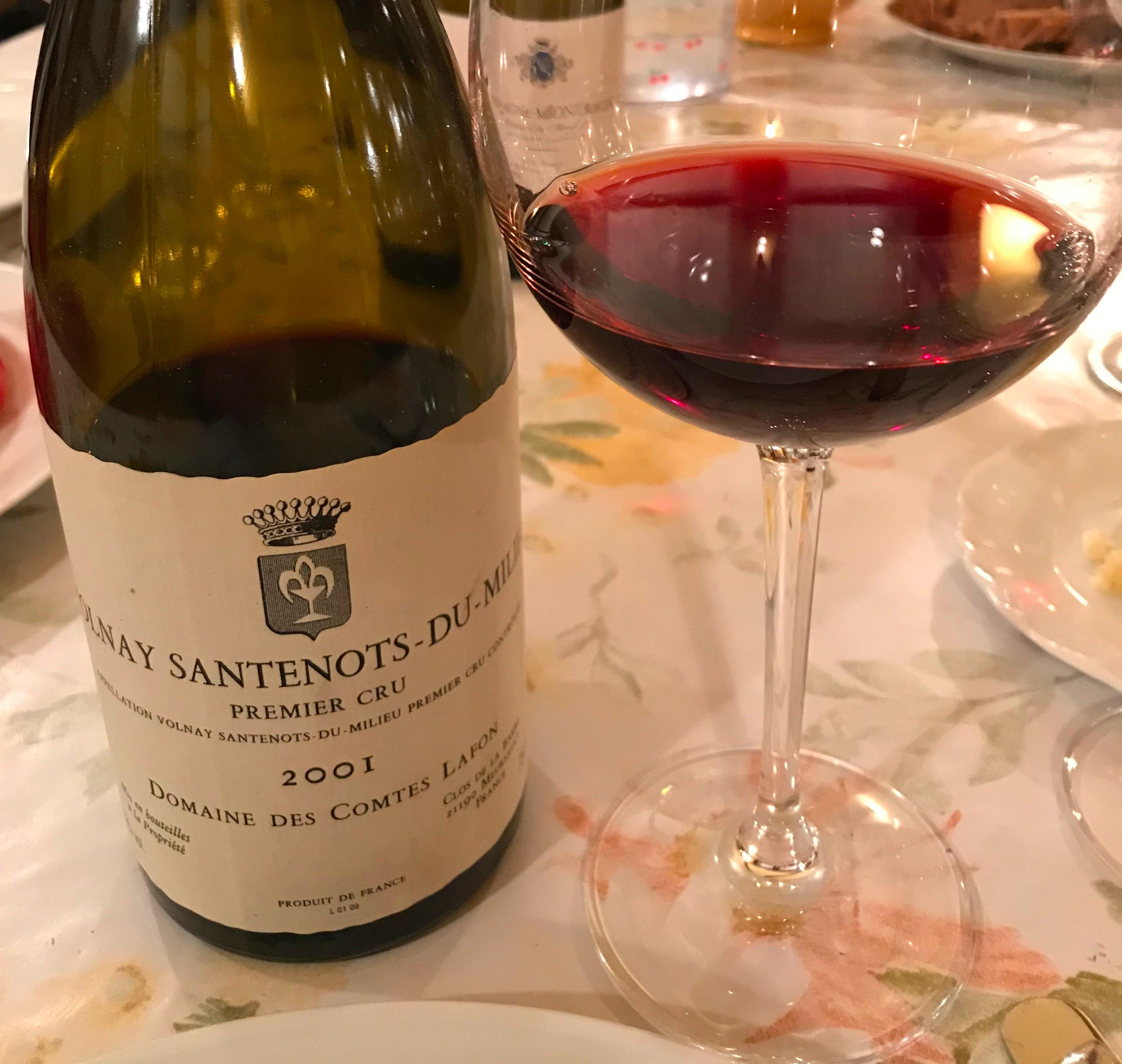 Volnay Santenots-du-Milieu 1er Cru 2001 - Domaine des Comtes Lafon