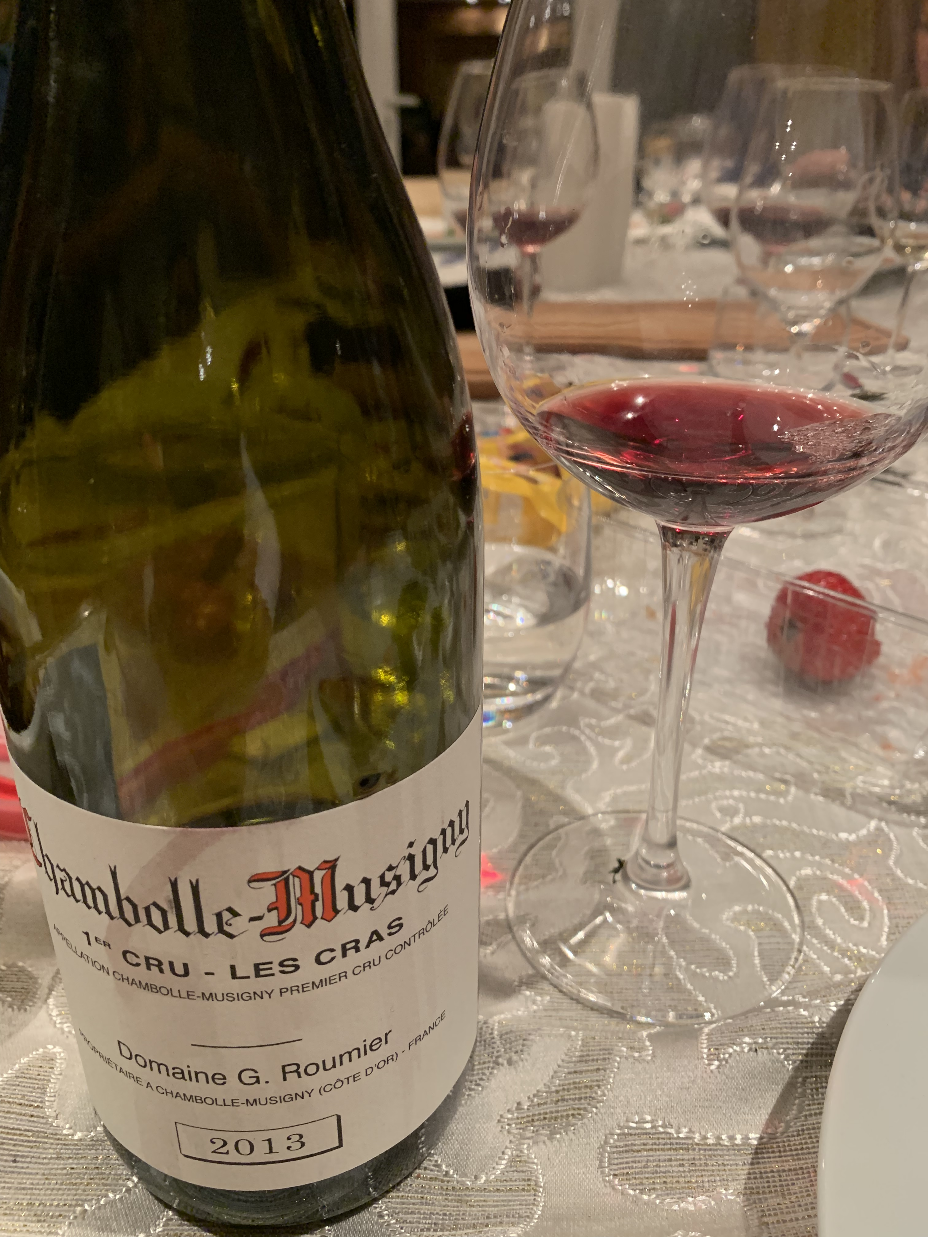 Chambolle Musigny 1er Cru Les Cras 2013