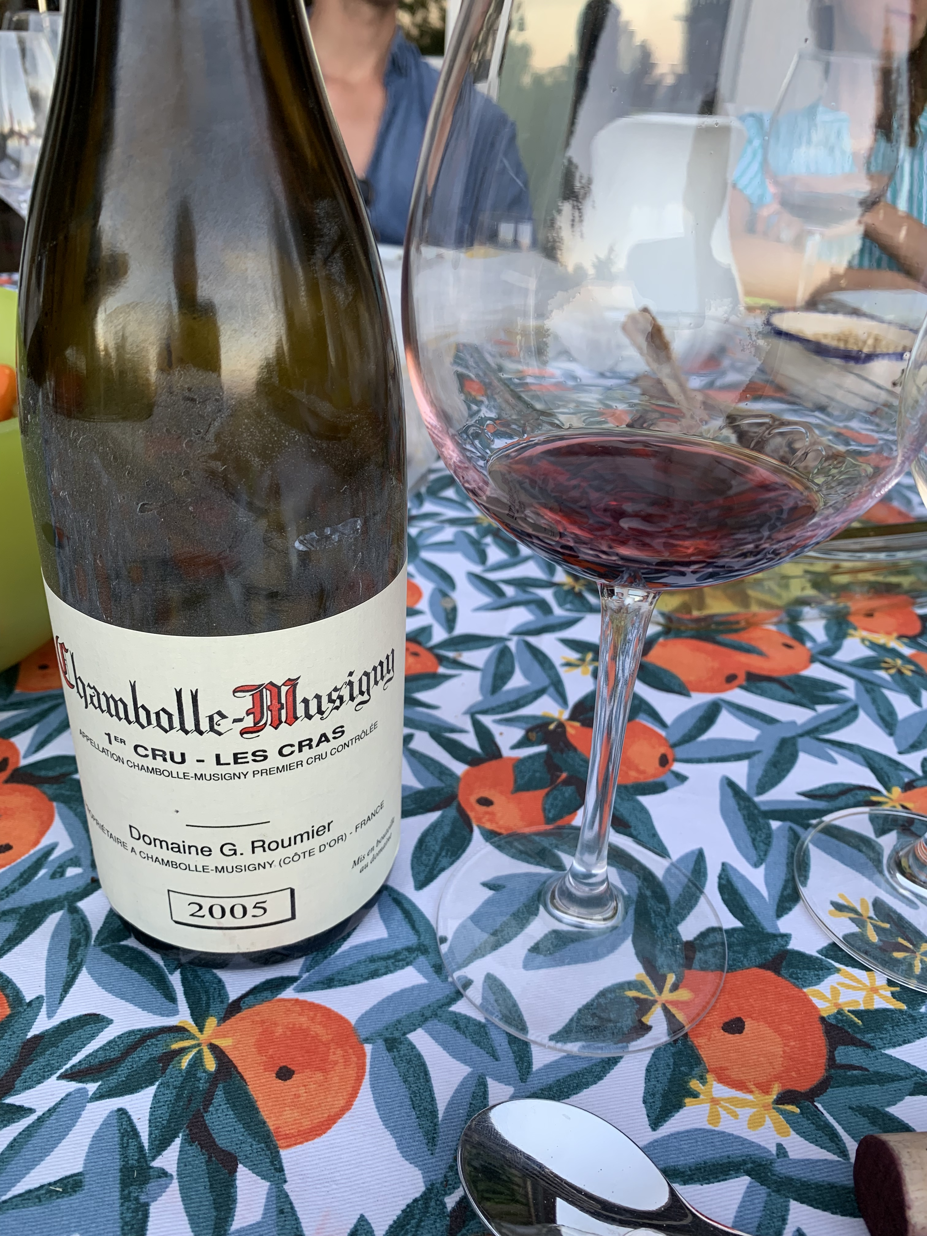 Chambolle Musigny premier cru les cras Roumier 2005