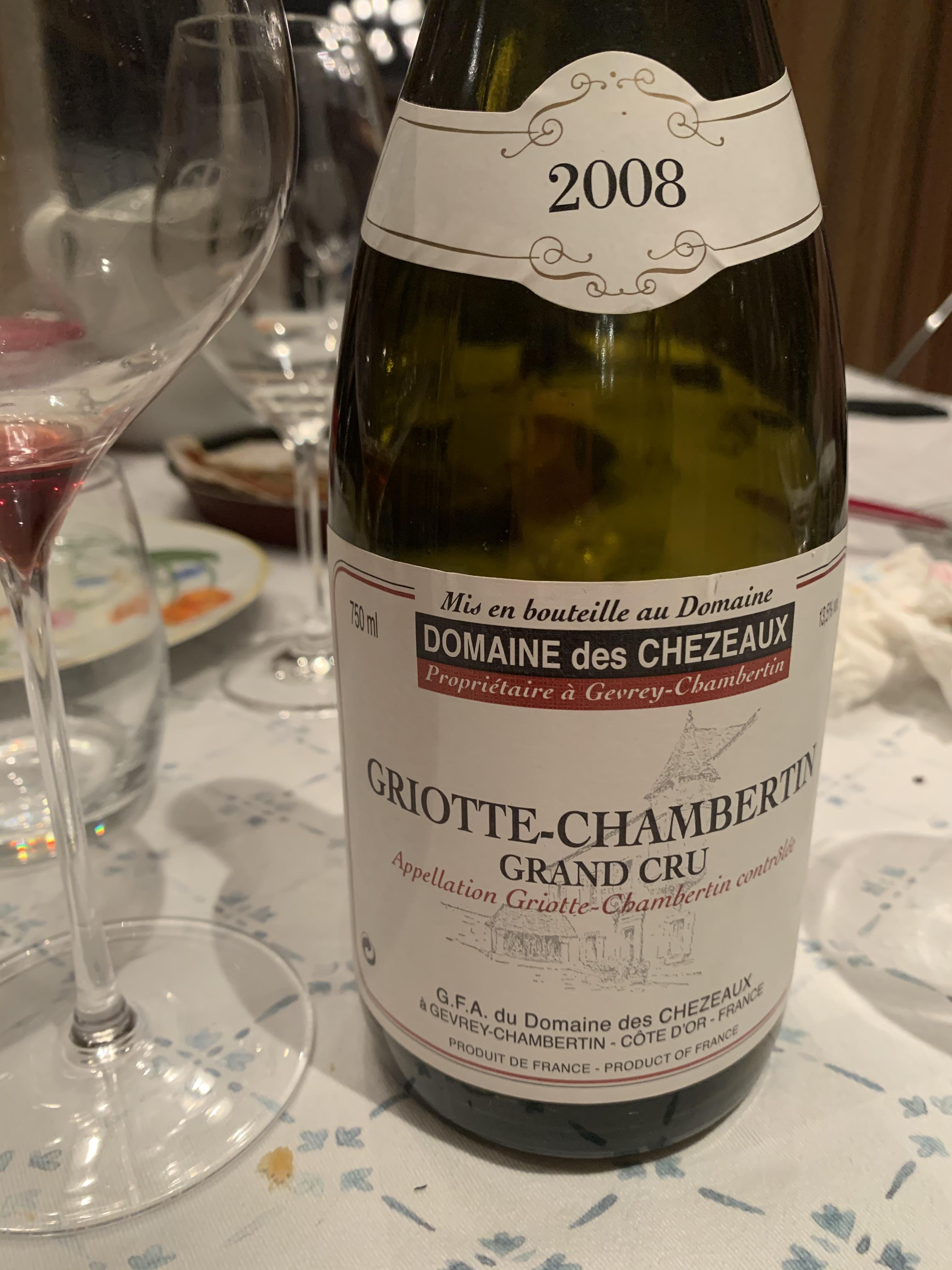 griotte chambertin 2008